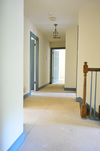 carpet removed in hallway