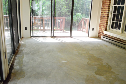 How to clean concrete floors after removing carpet floor for How to clean concrete floor in house