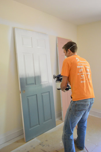 Trim And Doors With A Paint Sprayer