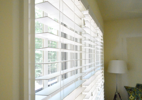 home depot mini blinds Installing White Faux Wood Window Blinds | Young House Love home depot mini blinds