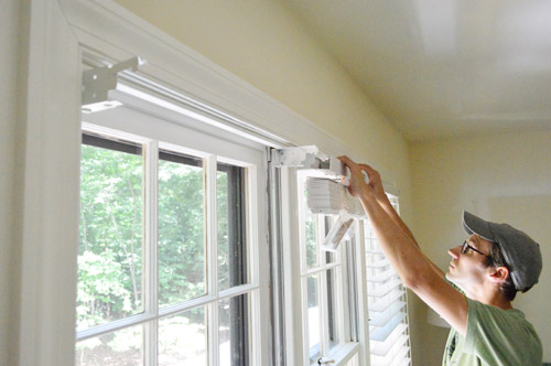 Installing White Faux Wood Window Blinds Young House Love
