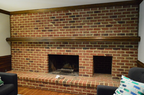 How To Whitewash A Brick Wall Or Fireplace | Young House Love