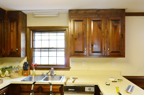 Removing Some Kitchen Cabinets Rehanging One Young House Love