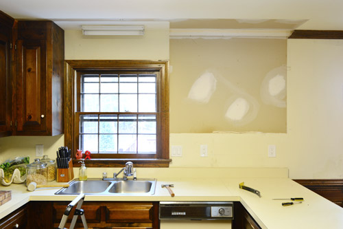 Removing Some Kitchen Cabinets & Rehanging One | Young House ...