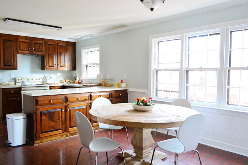 A Soft Blue Gray Paint Color For The Kitchen