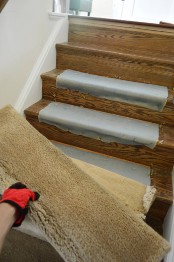 Removing Old Stair Carpet And 600 Staples Young House Love