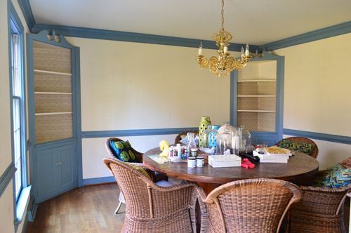 We figure we can either paint, re-wallpaper, or even add some starched fabric right over those stubborn wallpapered areas since getting them down to the ...