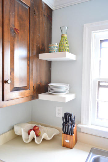 Tremendous Hanging Ikea Floating Shelves In Our Kitchen Young House Love Download Free Architecture Designs Lukepmadebymaigaardcom