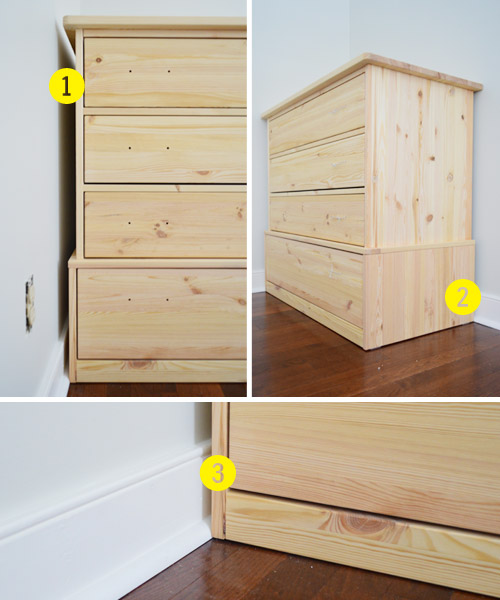 Dressers Into Bedroom Built Ins