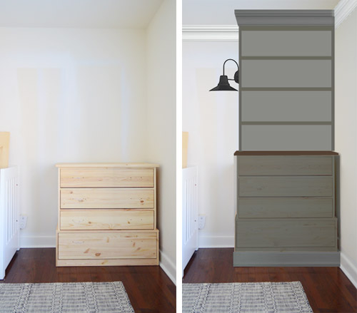 Dressers Into Bedroom Built Ins
