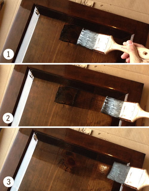 This Will Help Any Lingering Brush Lines Blend With The Wood Grain Better