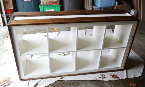 An Easy Ikea Hack Bookcase To Wood Wrapped Changing Table Young