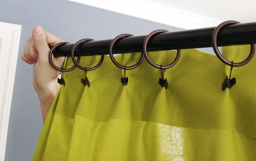 Making Pleated Curtain Panels The Easy, How To Hang A Curtain With Rings