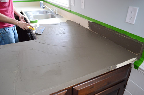 ardex feather finish countertop tutorial trying our at diy ardex concrete counters 262
