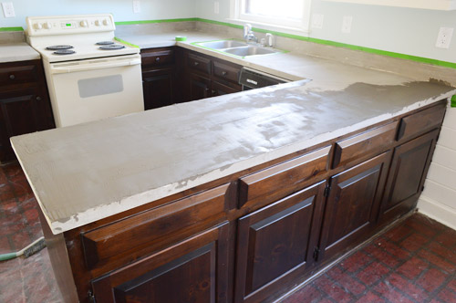 Trying Our Hand At DIY Ardex Concrete Counters | Young House