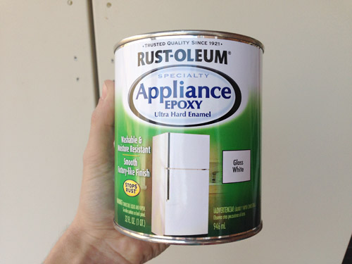 rust-oleum appliance epoxy can