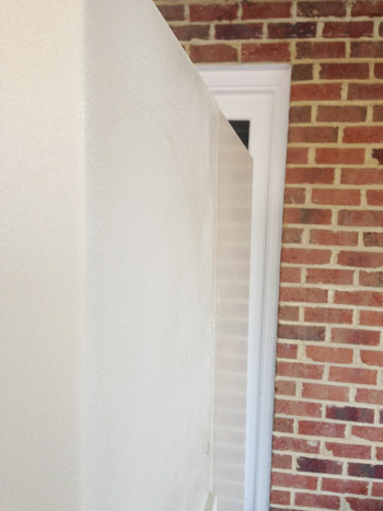 sanded refrigerator door
