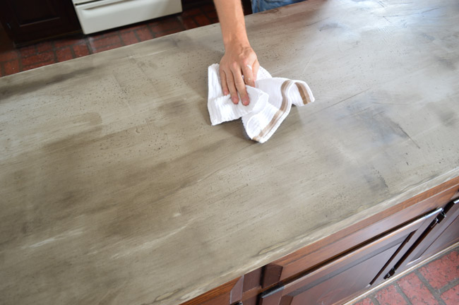 Sealing The Deal And Our Concrete Counters Young House Love