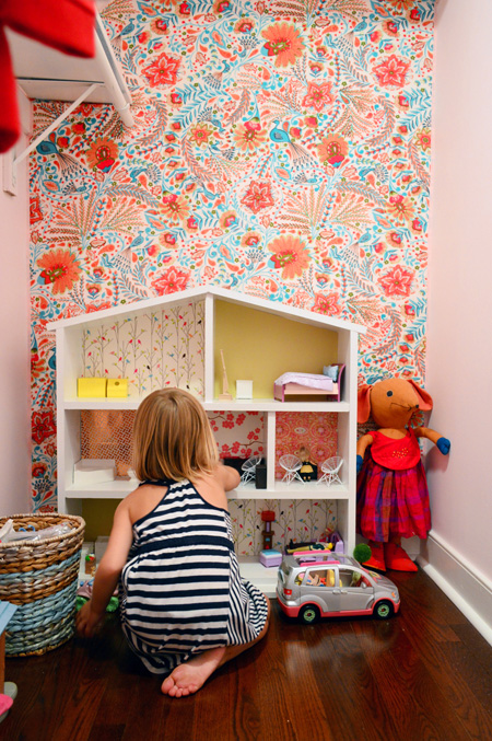 Wallflowers Aka How To Cover A Wall With Fabric Young House Love