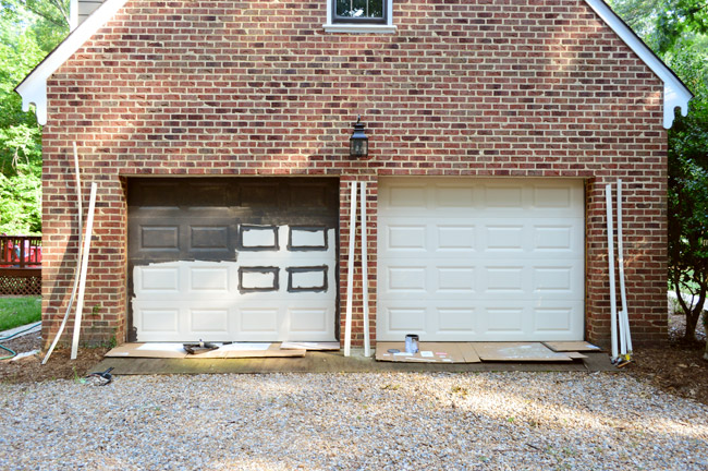 Painting Our Garage Doors A Richer Deeper Color Young