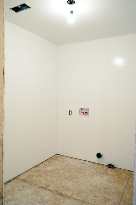 room primed after drywall taping mudding and sanding is complete