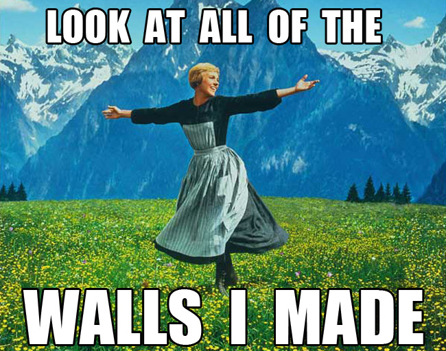 Julie Andrews Sound Of Music Meme Look At All Of The Walls I Made