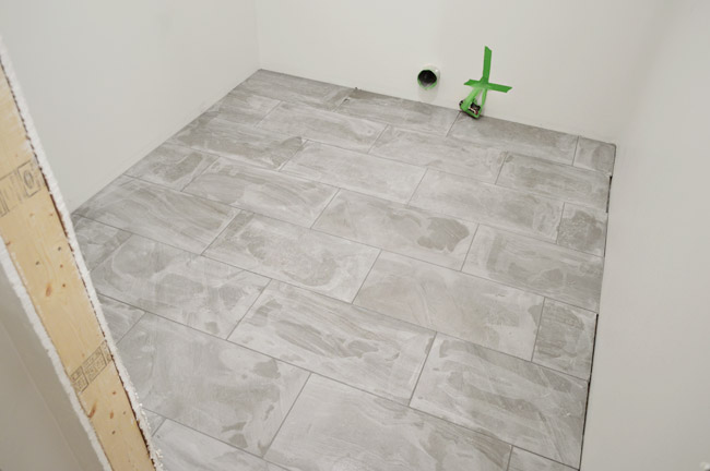 Laying Porcelain Tile In The Laundry Room Young House Love