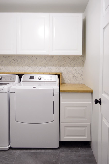 Chasing Waterfalls Our Homemade Laundry Room Counter