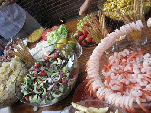 wedding food buffet
